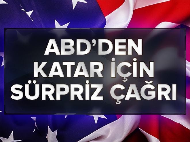 ABD'den Katar çağrısı