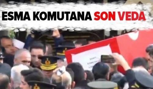 Şehit Astsubay Esma Çevik'e veda! .